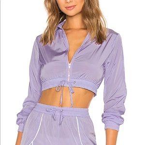 Lovers+ Friends Liz track jacket lavender